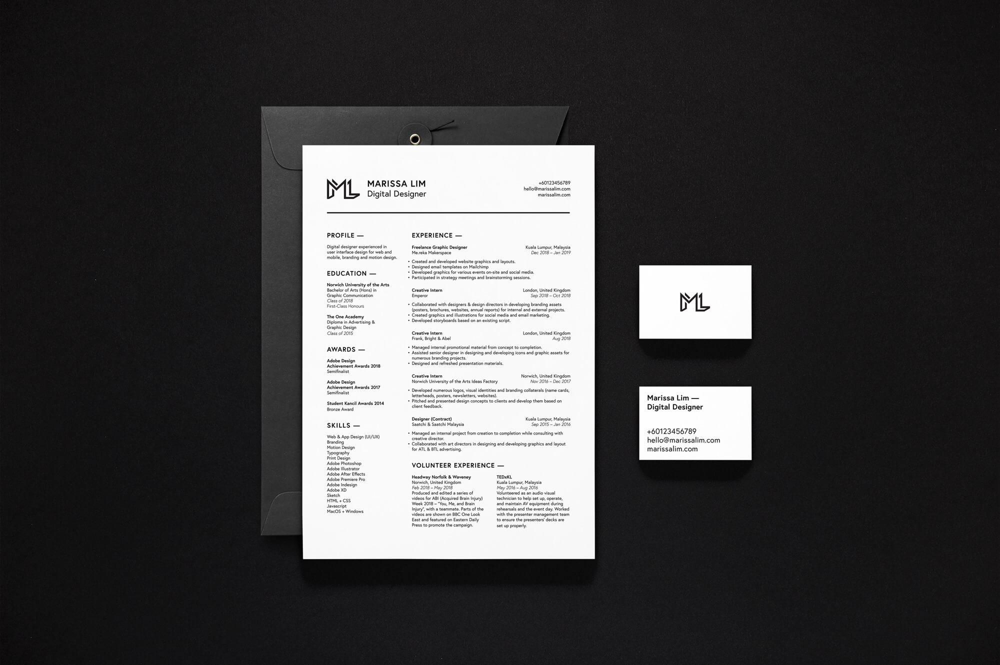 Name Card & Resume